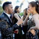 Sorry Lewis, she's taken! F1 champion gets close to model friend Irina Shayk AGAIN as they party together at amfAR gala