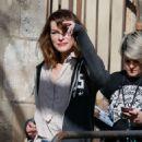 Milla Jovovich out in Barcelona - 454 x 687