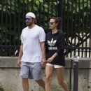 Bradley Cooper and girlfriend Irina Shayk look smitten as they walk hand-in-hand through Paris after workout session