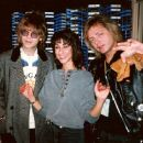 Elliot Eastman andBenjamin Orr during radio publicity appearance