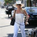 Nicollette Sheridan at Il Pastaio in Beverly Hills - 454 x 681