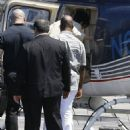 Corey Gamble seen taking off in a helicopter in Van Nuys, California on August 15, 2015 - 454 x 596