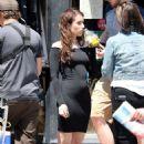 Emma Robertson the set of 'Little Italy' set in Toronto