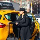 Rosario Dawson – Catching a cab in New York - 454 x 707