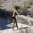 Izabel Goulart in Bikini at a Pool in Mykonos - 454 x 303
