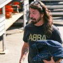 Dave Grohl is seen arriving at 'Jimmy Kimmel Live' in Los Angeles, California - 429 x 600