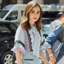 Lily Collins out and about in New York City - 454 x 681