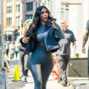 Kim Kardashian in Tights – Out in Tribeca