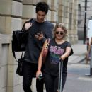 Lucy Fallon in Ripped Jeans – Out in Manchester - 454 x 697