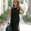 Ashley Tisdale in Black Dress on Melrose Place in West Hollywood - 454 x 681
