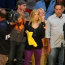 Stacy Ferguson: out to watch the Los Angeles Lakers host the Oklahoma City Thunder in the California