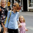 Sofia Coppola takes her daughter Romy shopping in Soho - 336 x 594
