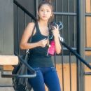 Brenda Song seen stopping by a gym for a workout in Studio City, California on July 26, 2014 - 378 x 594