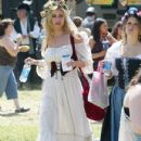 Aly and AJ Michalka attended The Original Renaissance Pleasure Faire yesterday, May 5, in Irwindale, CA. The ladies, and their pals, were decked out in full costume