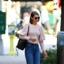 Katie Holmes in Sweater and Jeans – Out in New York City