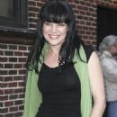 Pauley Perrette outside the Late Show with David Letterman, January 31, 2011