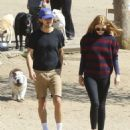 Shia LaBeouf and his new wife, Mia Goth, spend the day at the dog park in Studio City, California on October 15, 2016 - 454 x 546