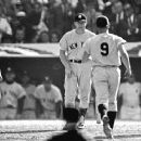 Mickey Mantle Congratulating Roger Maris After A  home run - 454 x 362