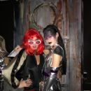 Lola Leng Taylor and Genevieve Potgieter at The Cuckoo Club's Halloween Party, on 26th October 2017