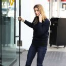 Ashley Greene at a parking garage in West Hollywood