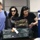 Dita Von Teese – Arrives at the airport in Miami - 454 x 342