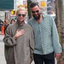 Tilda Swinton and Sandro Kopp are spotted out for a stroll in New York City, New York on March 31, 2016 - 454 x 587