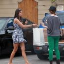 Nina Dobrev Goes Shopping And Gets Some Lunch In West Hollywood - 400 x 338