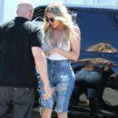 Khloe Kardashian is seen at a studio in Van Nuys, California on July 21, 2016
