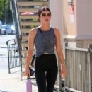 Lucy Hale – Heads to workout session in Studio City
