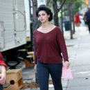 Morena Baccarin – On Set of 'Mating' in Soho, NYC 10/19/ 2016