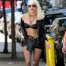 Leather-Clad Lady Gaga Struts Her Stuff in NYC