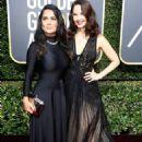 Salma Hayek and Ashley Judd – 2018 Golden Globe Awards in Beverly Hills - 454 x 681