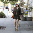 Crystal Reed in Mini Dress – Out in Los Angeles - 454 x 454