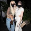 Noah Cyrus and Tana Mongeau – Seen arriving for dinner at BOA in West Hollywood - 454 x 681