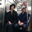 Mary Elizabeth Winstead and Ewan McGregor – Hold hands while riding the NYC Subway - 454 x 580