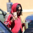 Vanessa Hudgens in all red out in Studio City