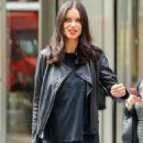 Adriana Lima – Leaving SiriusXM studios in New York City