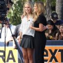 Celebrities at Universal Studios to do an interview for the show EXTRA in Universal City, California on October 7, 2013