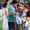 Isabel Lucas With Adrien Grenier At A Charity Race In Los Angeles, 2008-08-02