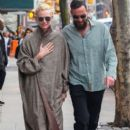 Tilda Swinton and Sandro Kopp are spotted out for a stroll in New York City, New York on March 31, 2016 - 394 x 600