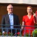 Jessica Chastain in Red Dress at the Martinez hotel in Cannes