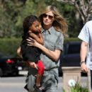 Heidi Klum and daughter, Lou, out for a day of karate class in Brentwood CA (March 3)