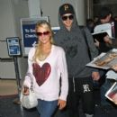Paris Hilton: arriving LAX Los Angeles Airport