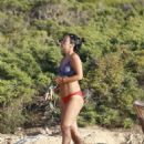 Lily Allen in Bikini on the beach in Ibiza - 454 x 601