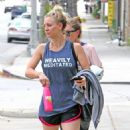 Kaley Cuoco Leaving Workout in Studio City - 454 x 747