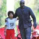 Seal is seen watching his kids Leni, Henry and Johan play soccer in Brentwood, California on January 31, 2015 - 405 x 600