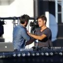 Zac Efron and Wes Bentley spotted on the 'We Are Your Friends' set