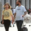 Julia Stiles and her husband Preston J. Cook – Spotted in Venice