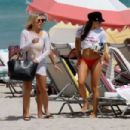 Danielle Peazer in Bikini on the beach in Miami - 454 x 303