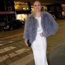 Michelle Hunziker in Long Dress – Out in Milan - 454 x 625